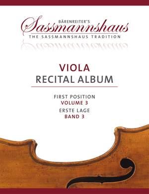 Sassmannshaus Viola Recital Album, Volume 3