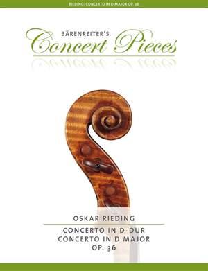 Rieding, Oskar: Concerto D major op. 36