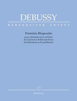 Debussy, Claude: Première Rhapsodie for Orchestra with Solo Clarinet in B-flat