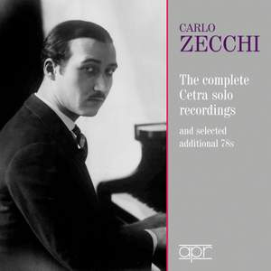 Carlo Zecchi: The complete Cetra recordings 1937-1942 Product Image