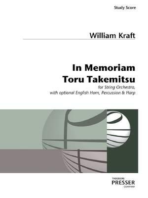 William Kraft: In Memoriam Toru Takemitsu Product Image