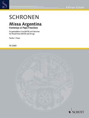 Schronen, A M: Missa Argentina