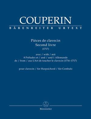 Couperin, François: Pièces de clavecin. Second livre (1717) for Harpsichord Product Image