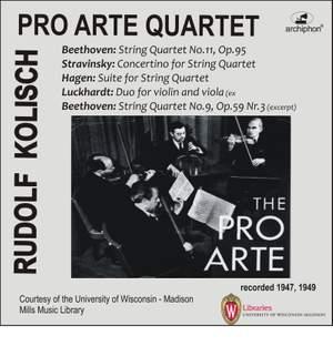 Beethoven, Stravinsky, Hagen & Luckhardt: Chamber Music for Strings