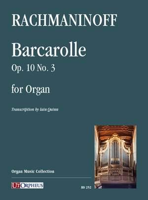 Rachmaninoff, S W: Barcarolle op.10/3