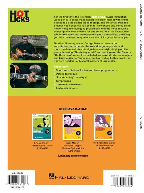 George Benson The Art Of Jazz Guitar Presto Sheet Music