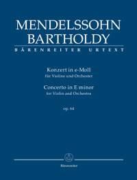Mendelssohn, Felix: Concerto for Violin and Orchestra E minor op. 64