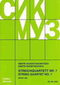Dimitri Shostakovich: Quatuor No 7 F Sharp Minor Op 108