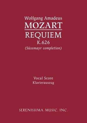 Mozart: Requiem, K. 626 - Vocal Score