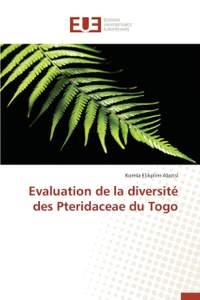 Evaluation de la diversité des Pteridaceae du Togo