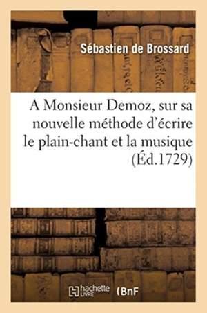 Lettre en forme de dissertation a Monsieur Demoz