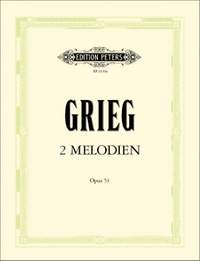 Grieg, Edvard: Two Melodies Op.53 (score and parts)
