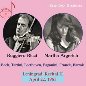 Martha Argerich & Ruggiero Ricci - 2nd Leningrad Recital 1961