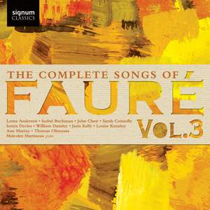 The Complete Songs of Faure, Vol. 3