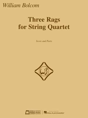 Bolcom, William: Three Rags for String Quartet (sc & pts)