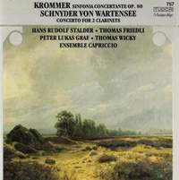 Krommer: Sinfonia Concertante, Op. 80 - Schnyder von Wartensee: Concerto for 2 Clarinets