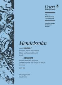 Mendelssohn, Felix: Double Concerto in D minor MWV O 4