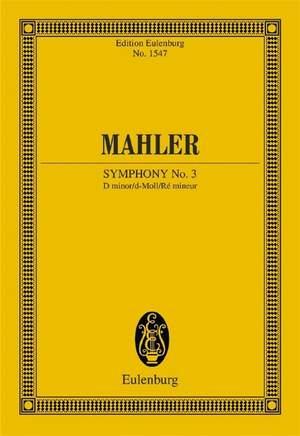 Mahler, G: Symphony No. 3 D minor