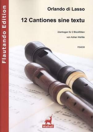 Orlando di Lasso: 12 Cantiones Sine Textu
