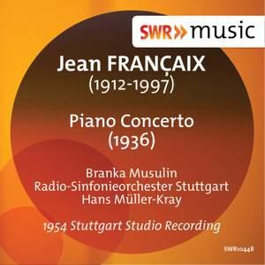Françaix: Piano Concerto