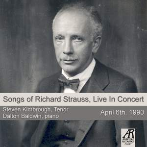 Songs of Richard Strauss, Live in Concert