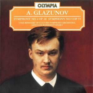 Glazunov: Symphony No. 4, Op. 48 & No. 5, Op. 55