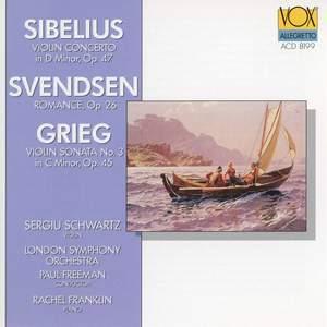 Grieg: Violin Sonata No. 3 in C Minor, Op. 45 - Sibelius: Violin Concerto in D Minor, Op. 47 - Svendsen: Romance in G Major, Op. 26 (Arr. for Violin & Piano)