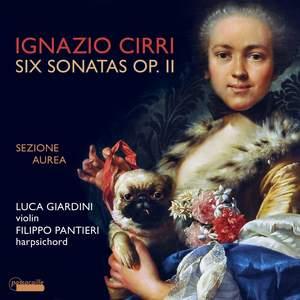 Ignazio Cirri: Violin Sonatas Op. 2 Product Image
