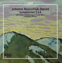 Johann Nepomuk David: Symphonies 2 & 4