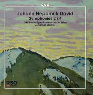Johann Nepomuk David: Symphonies 2 & 4 Product Image