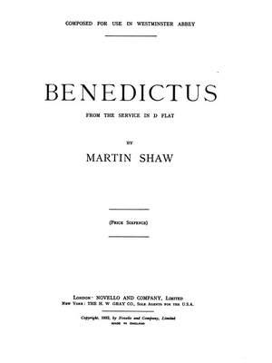 Martin Shaw: Benedictus In D Flat