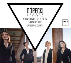 Gorecki: String Quartet No. 3, Op. 67 '...songs are sung' Product Image