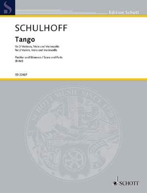Schulhoff, E: Tango