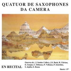 Semler-Collery, Bach, Clérisse, Gaujac, Debussy, Vellones, Sciortino, Joplin & Bozza: Debussy, Collery, Bach, Clérisse, Gaujac, Vellones, Sciortino, Joplin & Bozza: En Récital