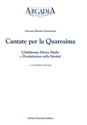 Marina Vaccarini Gallarani: Cantate per la Quaresima