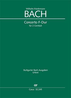 W. F. Bach: Concerto in F major for two harpsichords, BR-WFB A 12