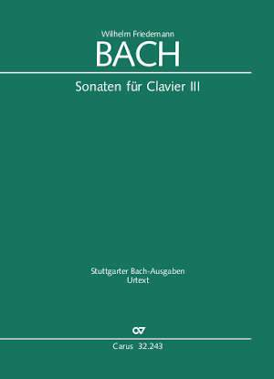 W. F. Bach: Sonatas for solo keyboard instrument III