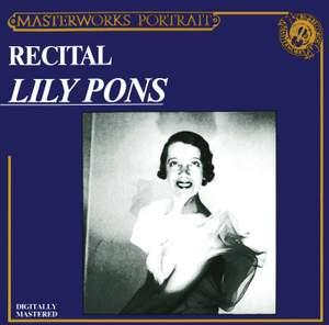 Lily Pons Recital