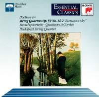 Beethoven: String Quartets Nos. 7 & 8, Op. 59 Nos. 1 & 2