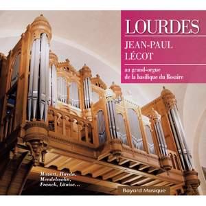 Lourdes - Jean-Paul Lécot au grand orgue de la basilique du Rosaire