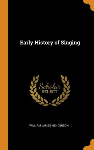 Early History of Singing
