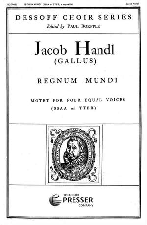 Jacob Handl: Regnum Mundi