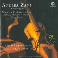 Zani: Sonate a violino e basso intitolate 'Pensieri armonici'