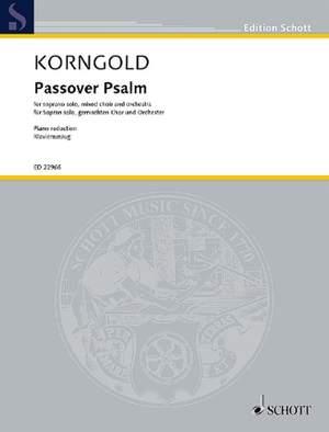 Korngold, E W: Passover Psalm op. 30