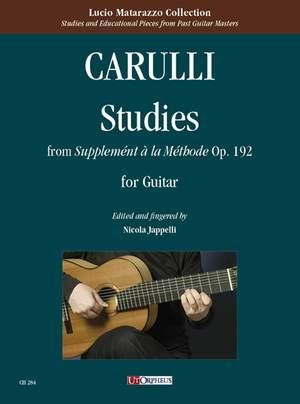 Carulli, F: Studies from Supplement a la Methode op.192