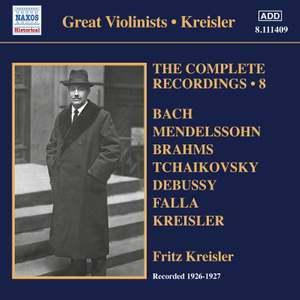 Fritz Kreisler: The Complete Recordings, Vol. 8