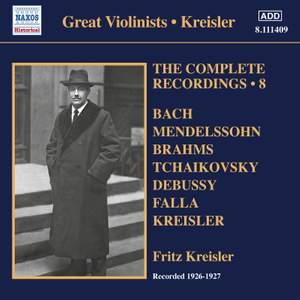 Fritz Kreisler: The Complete Recordings, Vol. 8