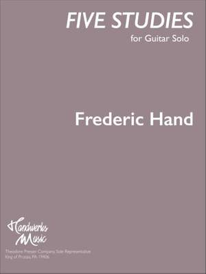 Frederic Hand: Five Studies for Guitar Solo Product Image