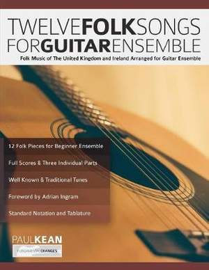 12 Folk Songs for Guitar Ensemble