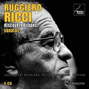 Ruggiero Ricci - Discovered Tapes - Sonatas
